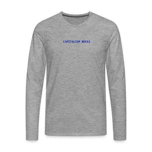 CAPITALISM ROCKS - Maglietta Premium a manica lunga da uomo