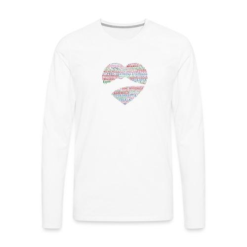 I Luoghi di Napoli di CuordiNapoli - Maglietta Premium a manica lunga da uomo