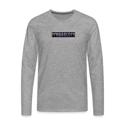 PredaStore Original Logo Design - Men's Premium Longsleeve Shirt