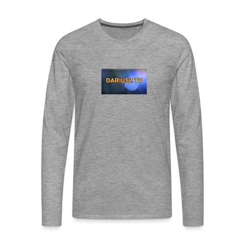 DARIUSZ TV - Koszulka męska Premium z długim rękawem