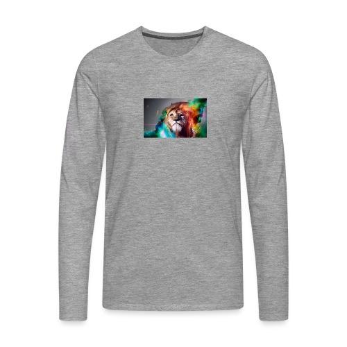 hero lion - T-shirt manches longues Premium Homme