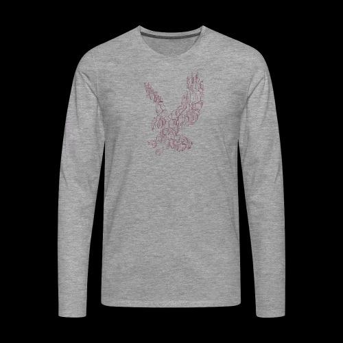 Eagle circuit - Herre premium T-shirt med lange ærmer