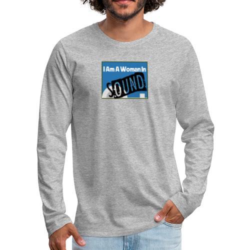 woman in sound - blue - Men's Premium Longsleeve Shirt