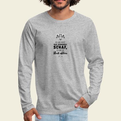 Schwarzes Schaf - white edition - Männer Premium Langarmshirt