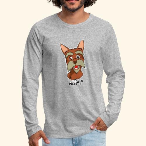 Nice Dogs schnauzer - Maglietta Premium a manica lunga da uomo
