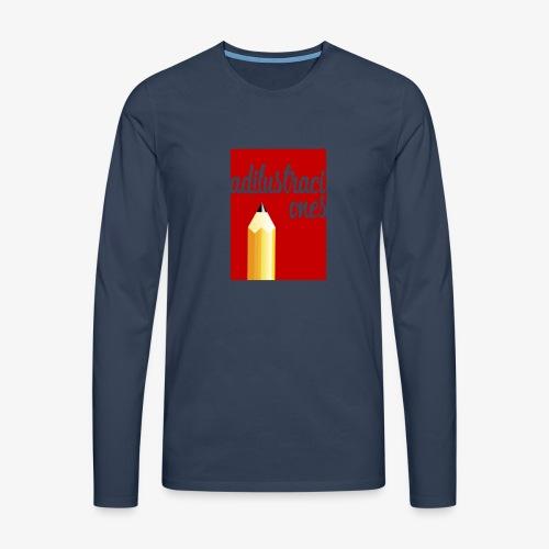 Ad ilustraciones Rojo - Camiseta de manga larga premium hombre