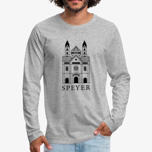 Speyer - Dom - Classic Font - Männer Premium Langarmshirt