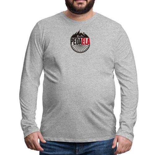 PEDAELA - Camiseta de manga larga premium hombre