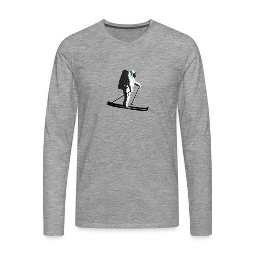 Moonlight Skiing - Men's Premium Longsleeve Shirt