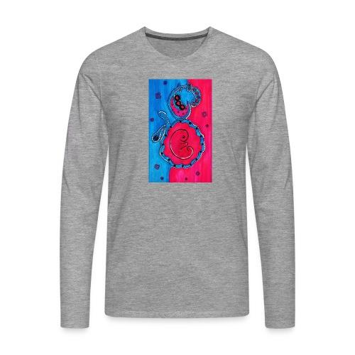 Born - Miesten premium pitkähihainen t-paita