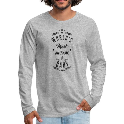 awesome baby - T-shirt manches longues Premium Homme