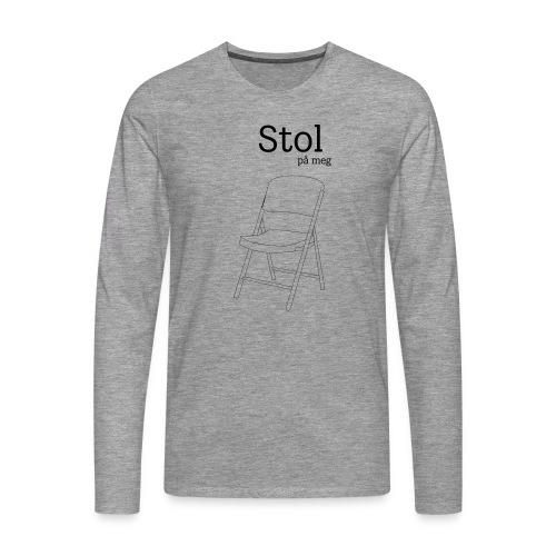 Stol på meg - Premium langermet T-skjorte for menn