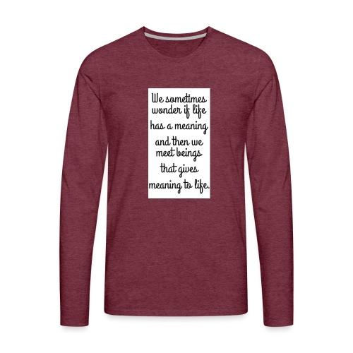 Phrase d'amour en anglais - T-shirt manches longues Premium Homme