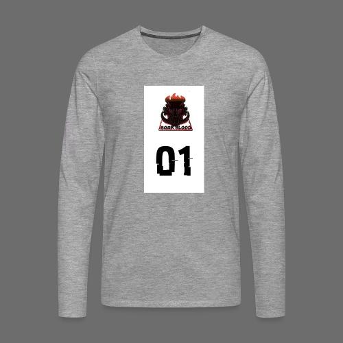 Boar blood 01 - Koszulka męska Premium z długim rękawem