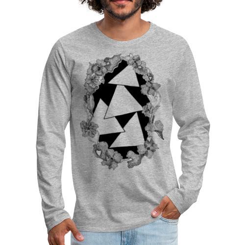 Raining Triangles - Maglietta Premium a manica lunga da uomo