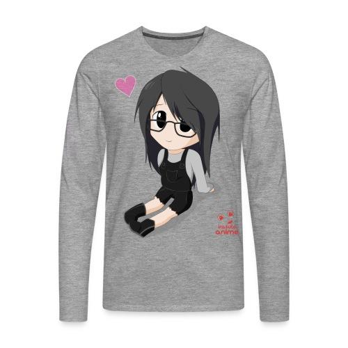 chibi anime chica shoujo - Camiseta de manga larga premium hombre
