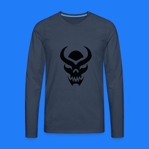 TRIBAL SKULL NOIR - T-shirt manches longues Premium Homme
