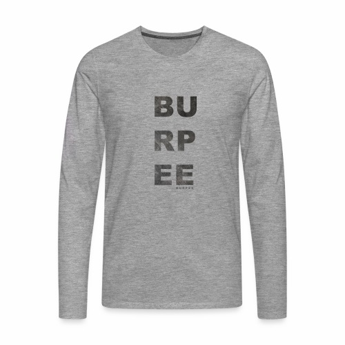 CF Naantalin burpeepainatus - Miesten premium pitkähihainen t-paita