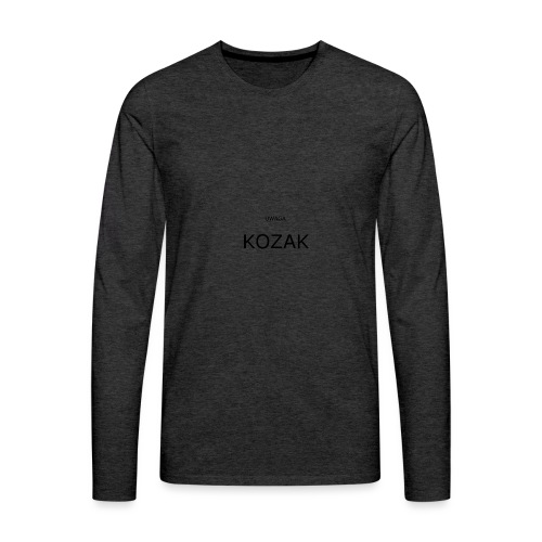 KOZAK - Koszulka męska Premium z długim rękawem
