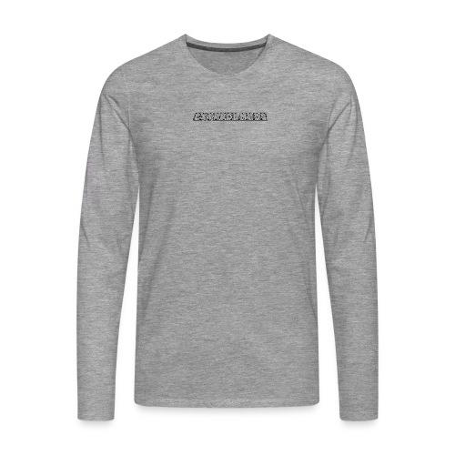 museplade - Herre premium T-shirt med lange ærmer