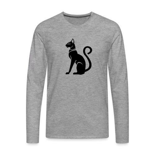 Bastet - Katzengöttin im alten Ägypten - Männer Premium Langarmshirt