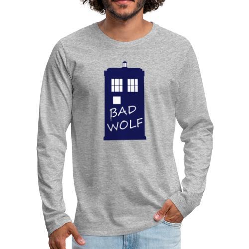 Bad Wolf Tardis - T-shirt manches longues Premium Homme