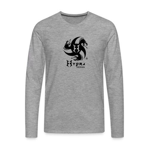 Hydra DESIGN - logo blk - Maglietta Premium a manica lunga da uomo