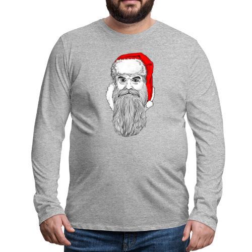 Weihnachtsmann mit roter Mütze - Männer Premium Langarmshirt