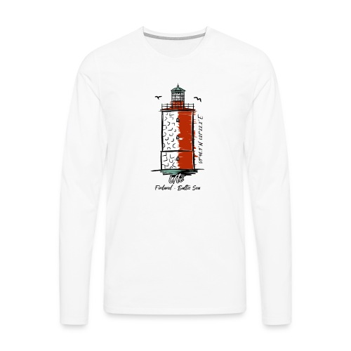Finnish Lighthouse UTÖ Textiles, and Gifts - Miesten premium pitkähihainen t-paita