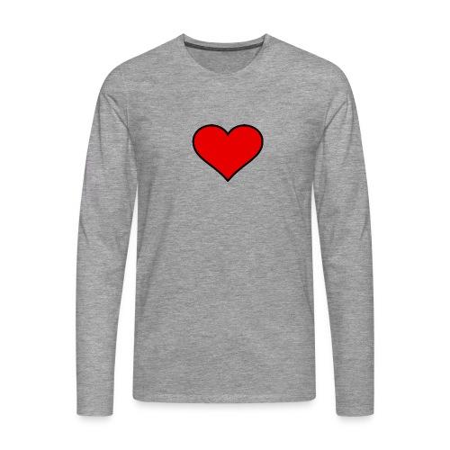 big heart clipart 3 - Långärmad premium-T-shirt herr