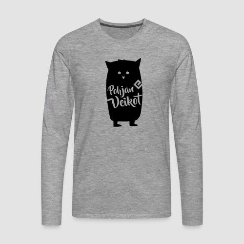 Veikko-pöllö - Miesten premium pitkähihainen t-paita