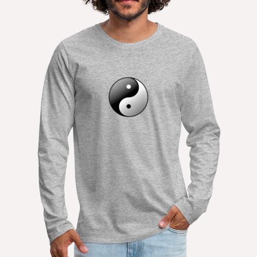 Yin Yang Symbol balance Print Sign - Men's Premium Longsleeve Shirt