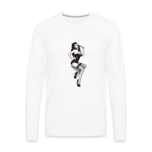 Pin Up Nadia Luongo - Maglietta Premium a manica lunga da uomo