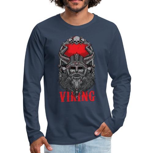 Viking T Shirt Design red - Miesten premium pitkähihainen t-paita
