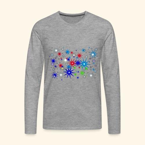 Star Snowflakes falling colourful - Men's Premium Longsleeve Shirt