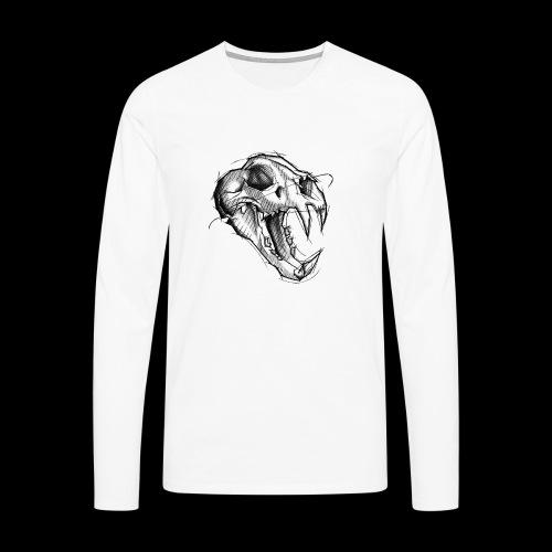 Teschio Tigre - Maglietta Premium a manica lunga da uomo