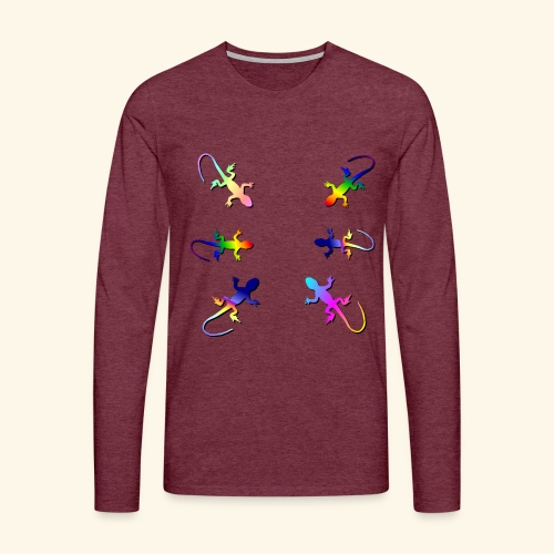 Rainforest Lizard Gecko - Men's Premium Longsleeve Shirt