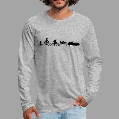 Bicycle evolution black - Miesten premium pitkähihainen t-paita