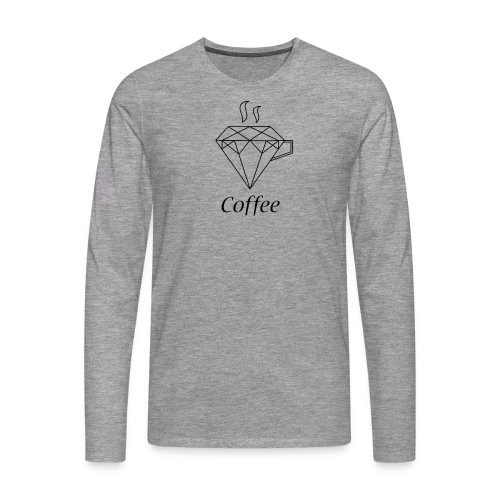 Coffee Diamant - Männer Premium Langarmshirt