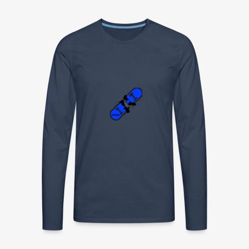 skateboard 512 - Herre premium T-shirt med lange ærmer