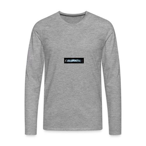DerHardstyle.ch Kleines Logo - Männer Premium Langarmshirt
