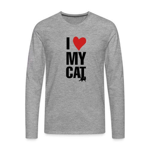 I_LOVE_MY_CAT-png - Camiseta de manga larga premium hombre