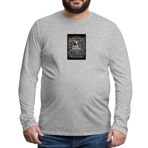 Johnny hallyday diamant peinture Superstar chanteu - T-shirt manches longues Premium Homme