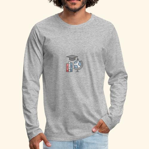 teacher knowledge learning University education pr - Herre premium T-shirt med lange ærmer