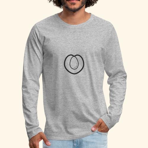 fruits and veggies icons peach 512 - Herre premium T-shirt med lange ærmer
