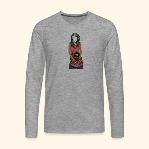 Femme avec jare - T-shirt manches longues Premium Homme
