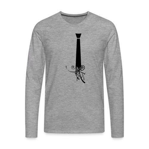 Krawatte - Männer Premium Langarmshirt