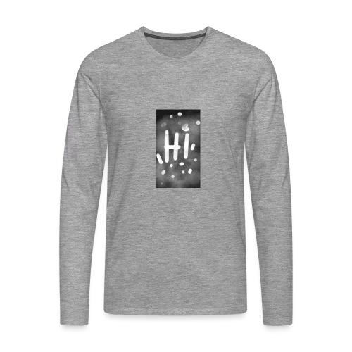 Hola o hi nublado - Camiseta de manga larga premium hombre