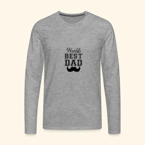 Worlds best dad - Herre premium T-shirt med lange ærmer