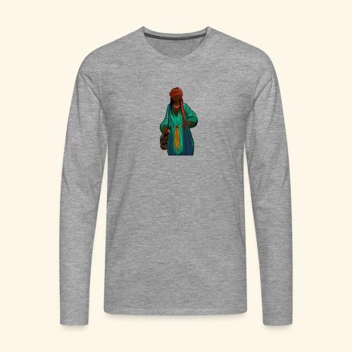 Femme avec sac motif - T-shirt manches longues Premium Homme